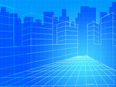 City background showing corporate company and design Piirros