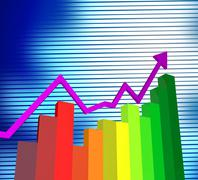 business graph meaning statistic investment and corporation - stock illustration