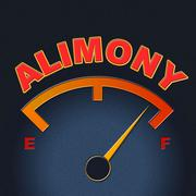 Stock Illustration of alimony gauge meaning spouse payment and display
