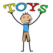 Kids toys representing toddlers youngster and child Stock Illustration