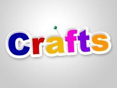 Crafts sign indicating artistic designing and design Stock Illustration
