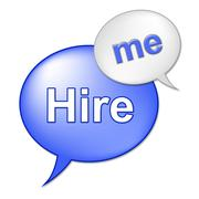 Hire me sign meaning job applicant and work Stock Illustration