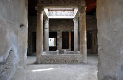 Original portico preserved - stock photo