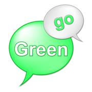 Go green message meaning eco friendly and environmentally Stock Illustration