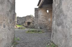 Pompeii - tragic last minute - stock photo