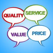quality words meaning perfection guarantee and excellent - stock illustration