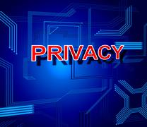 Privacy sign showing private secrecy and restricted Stock Illustration