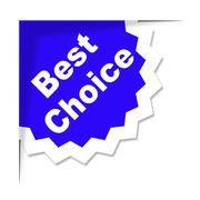 best choice means finest ideal and chief - stock illustration