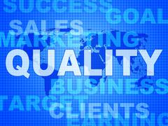 quality words representing perfect certified and approved - stock illustration