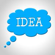 Idea thought bubble representing think about it and concept thinking Piirros