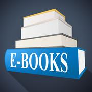 E books meaning world wide web and website Stock Illustration