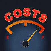Stock Illustration of costs gauge means display bills and finances