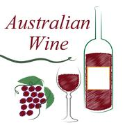 Australia wine meaning drink alcohol and booze Stock Illustration