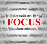 Focus definition indicating concentration focused and sense Stock Illustration