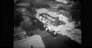 Houses destroyed during flood Stock Footage