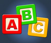 Stock Illustration of abc kids blocks means alphabet letters and alphabetical