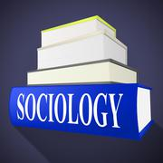 Sociology books representing answer inform and advisor Stock Illustration