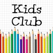 Kids club pencils representing youngster group and children Piirros