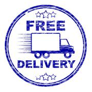 Free delivery stamp meaning with our compliments and without charge Piirros