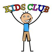 Kids club showing free time and youngsters Stock Illustration