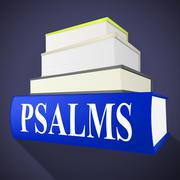 Psalms books showing song of praise and sacred Stock Illustration