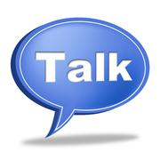 talk message indicating communication communicating and correspond - stock illustration