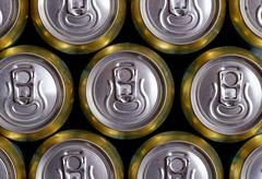 Stock Photo of Much of drinking cans