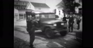 Military soldier driving army medical jeep Stock Footage