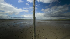Motion Time Lapse, Pilgrim's Way, Lindisfarne, Northumberland Stock Footage