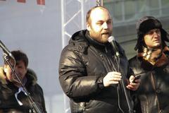 Civil activist peter shkumatov Stock Photos