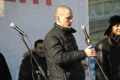 politician sergei udaltsov - stock photo