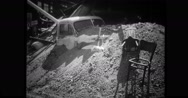 Truck covered in rubble Stock Footage