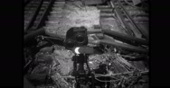Destroyed railway tracks in Connecticut Stock Footage