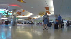 New Orleans International Airport Interior Check In Stock Footage