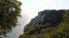 Rocks on island Ruegen Stock Footage