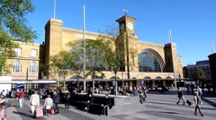 Kings Cross Railway Station, London - stock footage