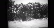 Military soldiers riding motorcycles Stock Footage