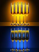 Luxury glass of champagne Kuvituskuvat