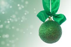 christmas tree ornaments and balls - stock photo