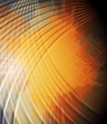Grunge orange background Stock Illustration