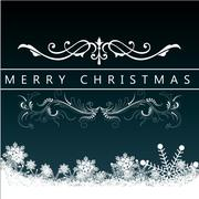 Christmas Greeting Card. Merry Christmas lettering, vector illustration Stock Illustration