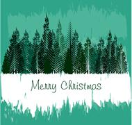Christmas Greeting Card. Merry Christmas lettering, vector illustration - stock illustration