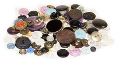 Buttons for sew on a white background Stock Photos