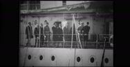 Prince Peter and his grandmother on cruiser Stock Footage