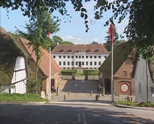 Historical building or manor, previously the Moesgaard museum Stock Footage