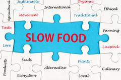 Stock Photo of slow food concept