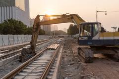 Railroad under construction Kuvituskuvat
