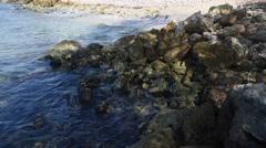 Ocean Over Rocks Stock Footage