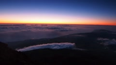 Sunrise on Pico Mountain, Pico Island, Azores, Portugal - stock footage