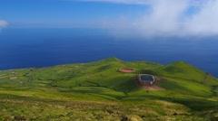 Landscape of Corvo Island, Azores, Portugal Stock Footage